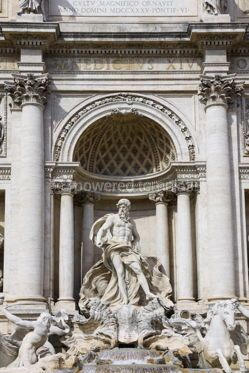 Architecture : Famous Trevi Fountain in Rome Italy #07727