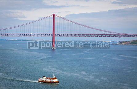 Architecture : Bridge of 25th April over Tagus river Lisbon Portugal #07739