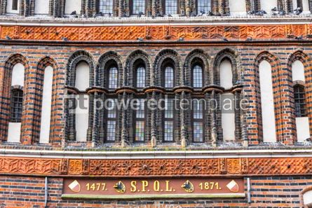 Architecture : Details of Holsten Gate in Lubeck old town Germany #07747