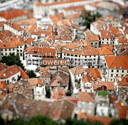 Architecture : Aerial view of buildings in Kotor old town Montenegro #07754