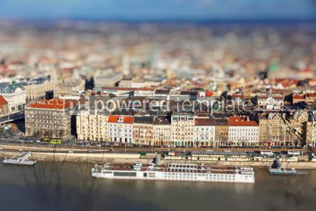 Architecture : Aerial view of Danube river and Budapest city #07757