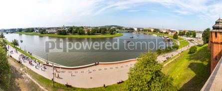 Architecture : Panoramic view of Vistula river in Krakow Poland #07777