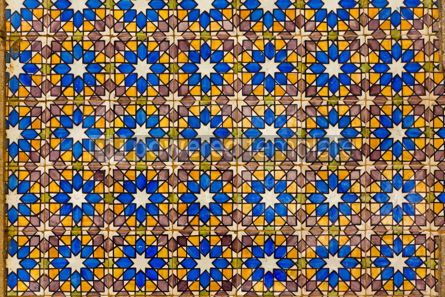 Architecture : Typical Lisbon old ceramic wall tiles (azulejos) #07784