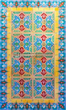 Architecture : Typical Portuguese old ceramic wall tiles (Azulejos) Portugal #07786