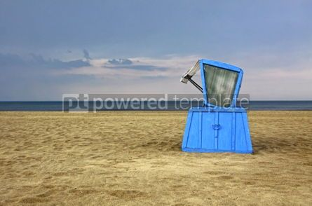 Nature: Hooded beach chair at the Baltic sea #07791