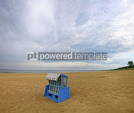 Nature: Hooded beach chair at the Baltic sea #07792