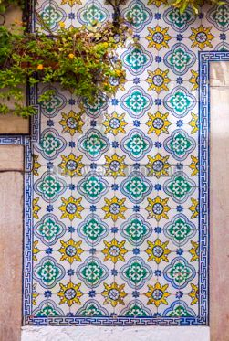 Architecture : Typical Portuguese old ceramic wall tiles (Azulejos) #07796