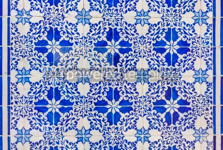 Architecture : Typical Portuguese old ceramic wall tiles (Azulejos) in Lisbon  #07799