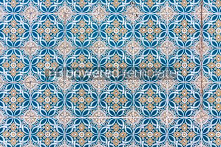 Architecture : Typical Portuguese old ceramic wall tiles (Azulejos) #07804