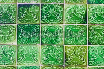 Architecture : Details of typical Portuguese old ceramic wall tiles (Azulejos) #07806