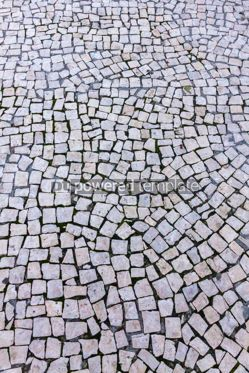 Architecture : Typical mosaic floor on the streets of Lisbon Portugal #07809