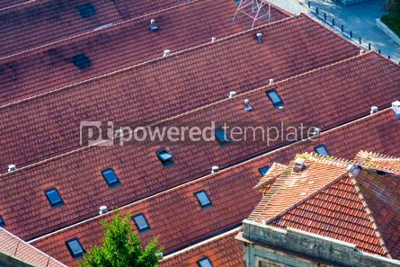 Architecture : Orange tile rooftops in Porto old town Portugal #07822