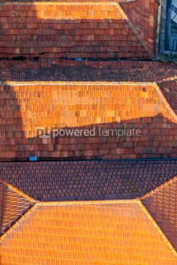 Architecture : Orange tile rooftops in Porto old town Portugal #07823