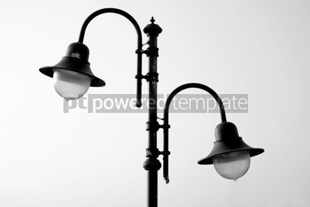 Architecture : Retro-styled lamppost black/white #07826