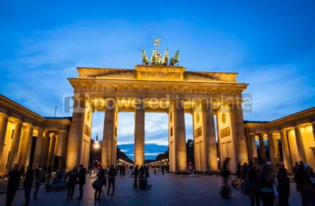 Architecture : Brandenburg Gate (Brandenburger Tor) in Berlin Germany #07831