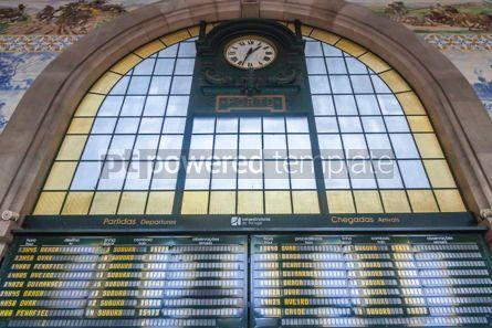 Architecture : Sao Bento Railway Station in Porto Portugal #07835