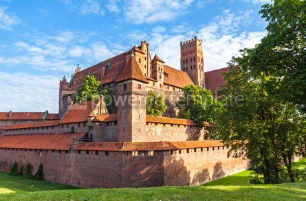 Architecture : Malbork castle in Pomerania region of Poland #07839