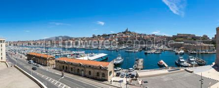 Architecture : Panoramic view of Old Port in Marseille France #07841
