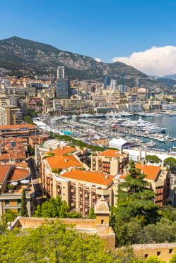 Architecture : Luxury yachts and apartments in harbor of Monte Carlo Monaco #07844