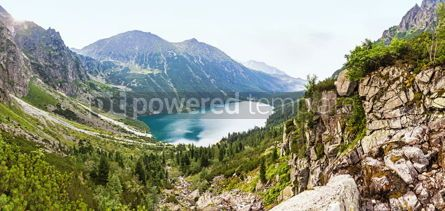 Nature: Panoramic view of Morskie Oko lake High Tatras Poland #07849