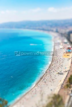 Nature: Aerial view of beach in City of Nice Cote d'Azure France #07871