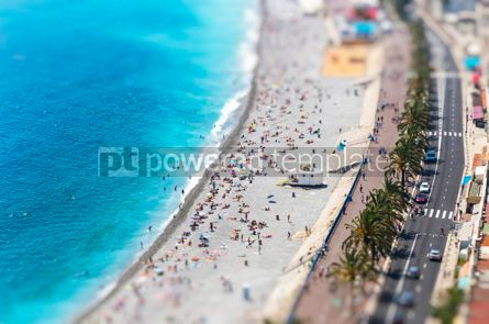 Nature: Aerial view of beach in City of Nice Cote d'Azure France #07872