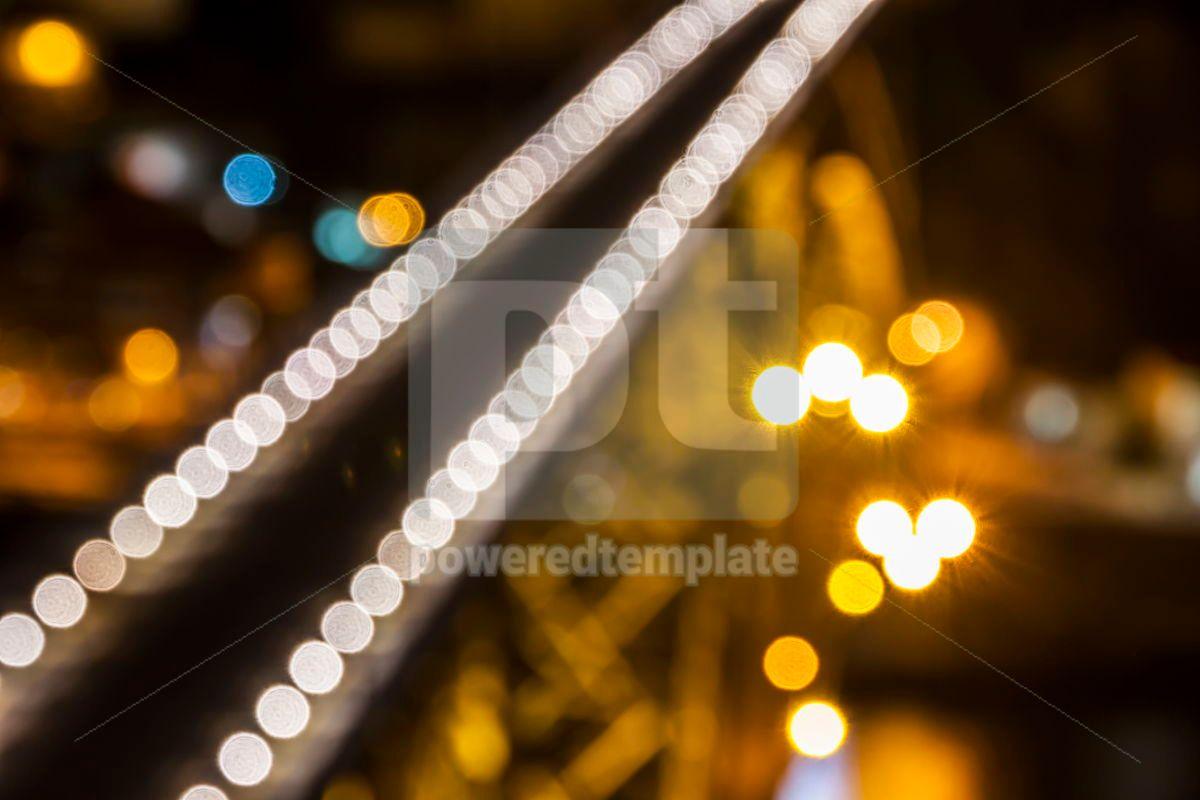 Blurred defocused lights of night city, 07876, Abstract — PoweredTemplate.com