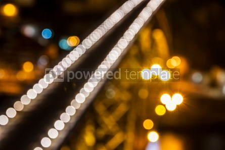 Abstract: Blurred defocused lights of night city #07876