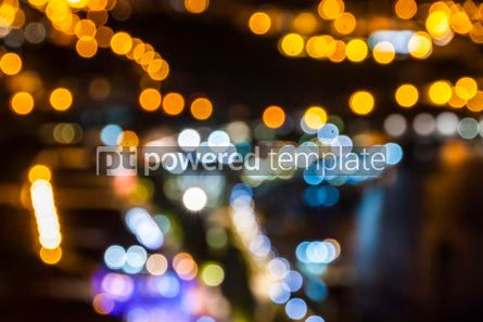 Abstract: Blurred defocused lights of night city #07877