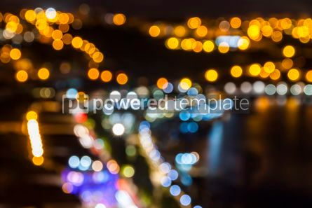Abstract: Blurred defocused lights of night city #07878