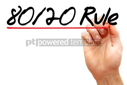Business: Hand writing 80 20 Rule with marker #07938