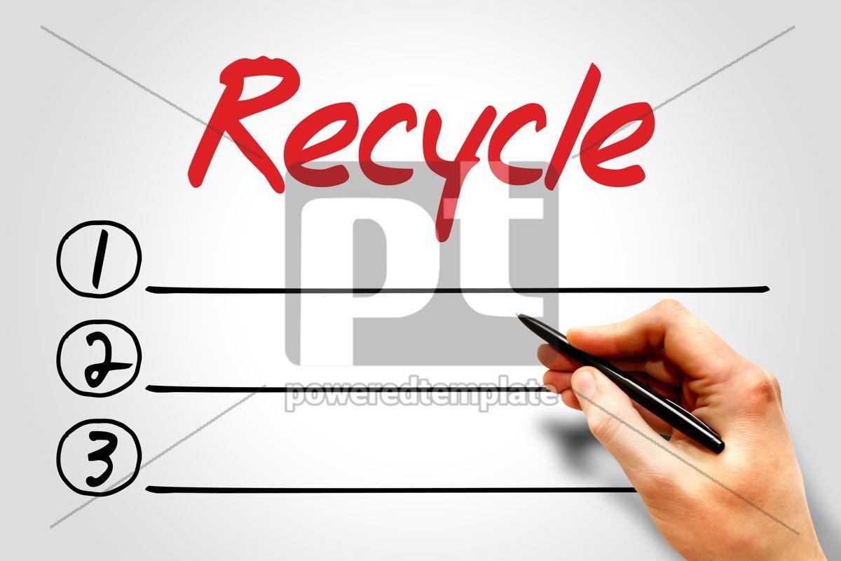Recycle, 08112, Education — PoweredTemplate.com