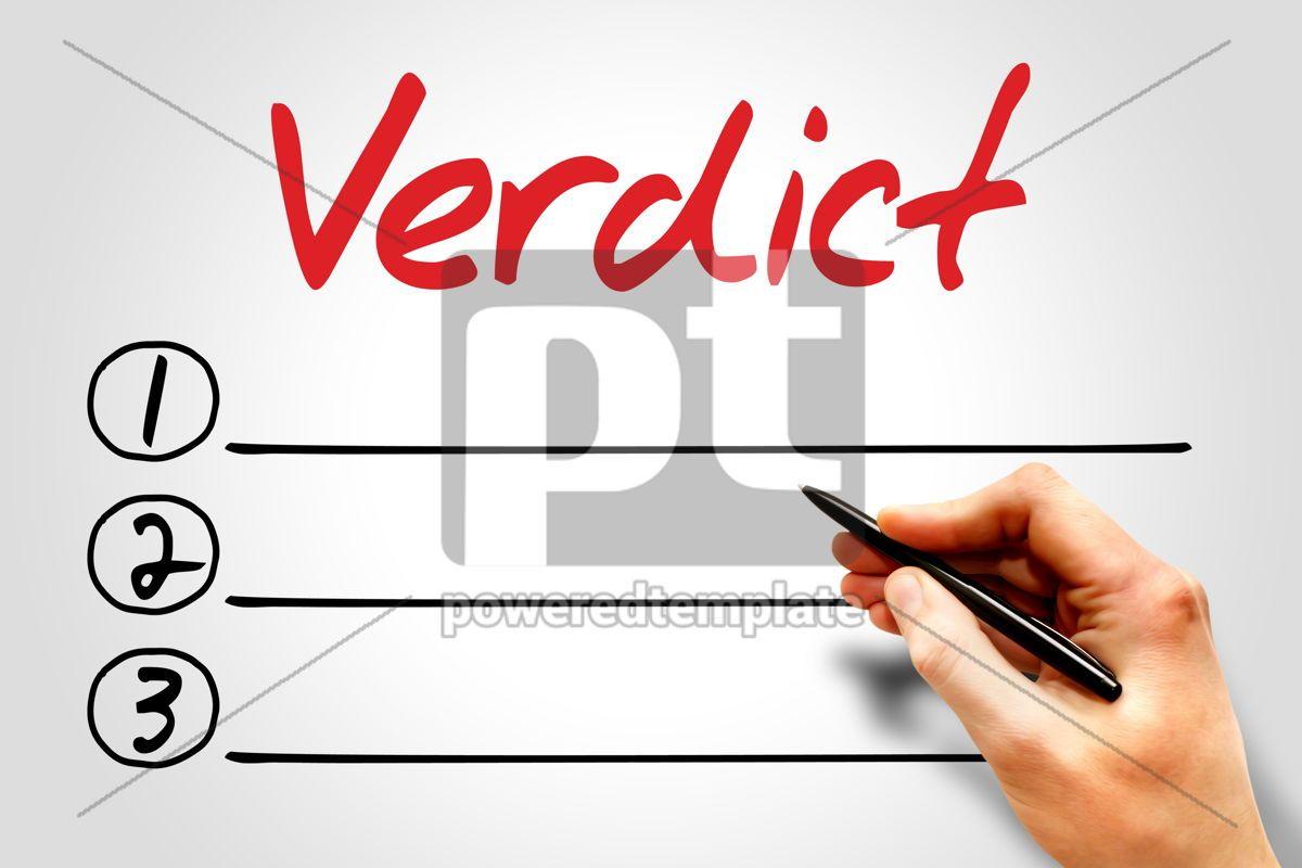 Verdict, 08170, Business — PoweredTemplate.com