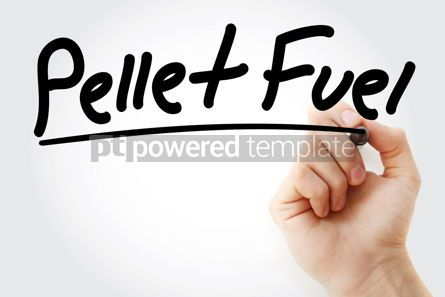 Business: Hand writing Pellet fuel with marker #08318
