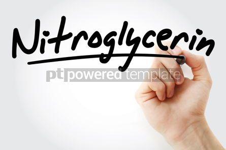 Industrial: Hand writing Nitroglycerin with marker #08335