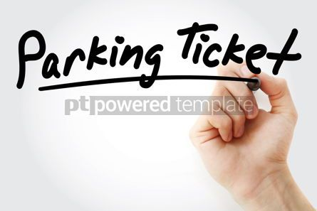 Business: Hand writing Parking ticket with marker #08336