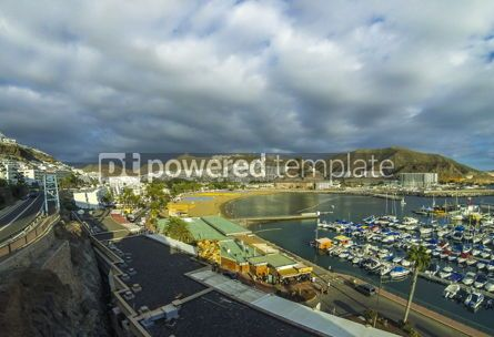 Nature: Puerto Rico town famous tourist resort on Gran Canaria island  #08345