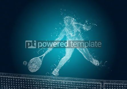Abstract: Abstract tennis player in action. Crystal ice effect #08359