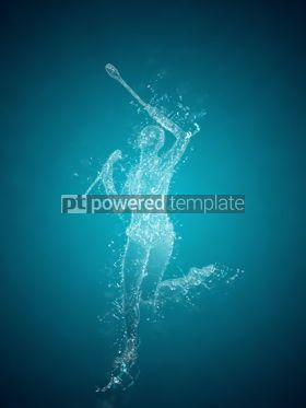 Abstract: Abstract woman rhythmic gymnast. Crystal ice effect #08362