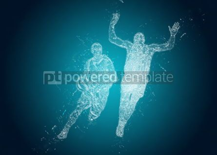 Abstract: Abstract Basketball players in action. Crystal ice effect #08364