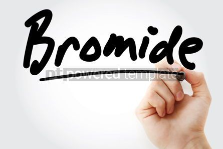 Business: Hand writing Bromide with marker #08382
