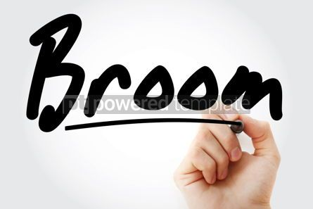Business: Hand writing Broom with marker #08386