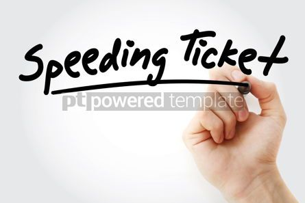 Business: Hand writing Speeding ticket with marker #08404