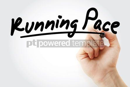 Business: Hand writing Running pace with marker #08408