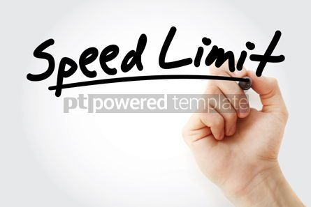 Business: Hand writing Speed limit with marker #08411