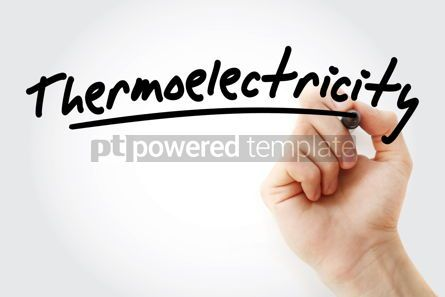 Business: Hand writing Thermoelectricity with marker #08413