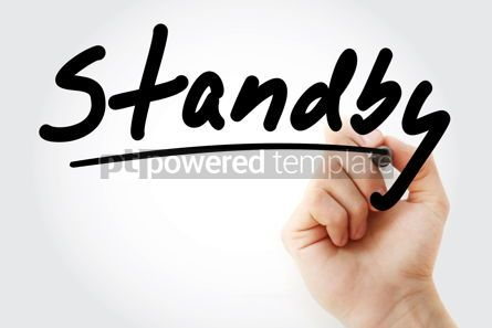 Business: Hand writing Standby with marker #08419