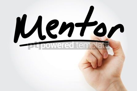 Business: Hand writing Mentor with marker #08422