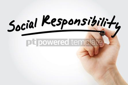 Business: Hand writing Social responsibility with marker #08427