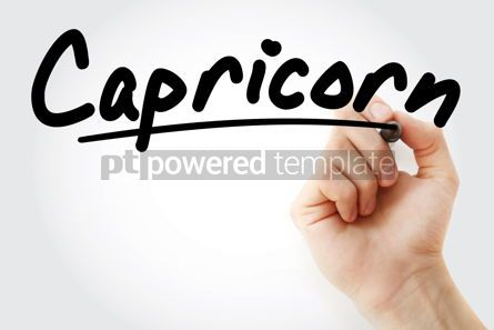 Business: Hand writing Capricorn with marker #08434